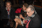 RICHARD E. GRANT; JEMIMA KHAN; STEPHEN FREARS, Party to celebrate Vanity Fair's very British Hollywood issue. Hosted by Vanity Fair and Working Title. Beaufort Bar, Savoy Hotel. London. 6 Feb 2015