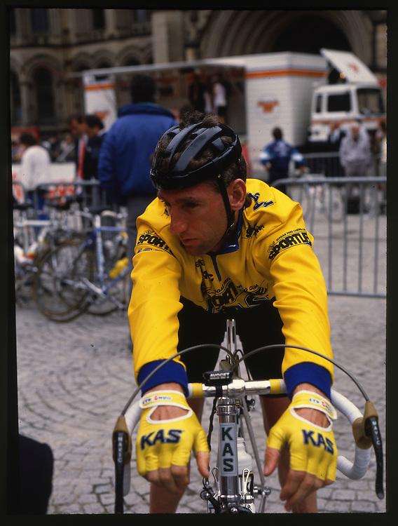 Pro road riders circa 1988.