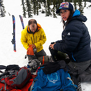 Shannon and Andy Mahre pack up to head home.