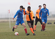17/03/2018 - Sidlaw Albion (orage) v DC Athletic in the Dundee Saturday Morning Football League at University Grounds, Riverside, Dundee, Picture by David Young -
