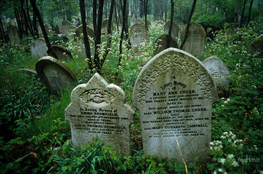 "Highgate cemetery. In Bram Stoker's Gothic novel Dracula, the Count's young victim, Lucy Westenra, is buried in ""Kingstead Cemetery"" (a fictionalised Highgate)"