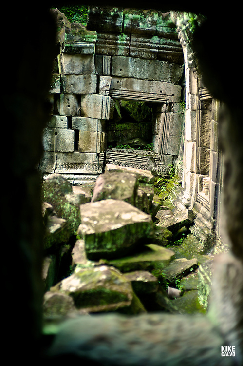 Ancient ruins of Preah Khan Temple, Angkor, Cambodia.    (Kike Calvo via AP Images)