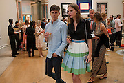 Sara Blomqvist; JEREMY YOUNG, Royal Academy of Arts Summer Exhibition Preview Party 2011. Royal Academy. Piccadilly. London. 2 June <br /> <br />  , -DO NOT ARCHIVE-© Copyright Photograph by Dafydd Jones. 248 Clapham Rd. London SW9 0PZ. Tel 0207 820 0771. www.dafjones.com.