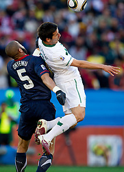 Oguchi Onyewu of USA vs Zlatan Ljubijankic of Slovenia during the 2010 FIFA World Cup South Africa Group C match between Slovenia and USA at Ellis Park Stadium on June 18, 2010 in Johannesberg, South Africa. (Photo by Vid Ponikvar / Sportida)