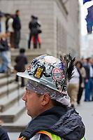 building worker and helmet in New York October 2008