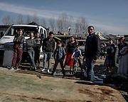 Rom seguono l'intervento di Matteo Salvini all'interno del campo del quartiere periferico di Tor Sapienza. Roma 24 Febbraio 2016. Christian Mantuano / OneShot