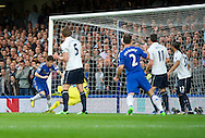 Picture by Alan Stanford/Focus Images Ltd +44 7915 056117.08/05/2013.Oscar of Chelsea scores the opening goal during the Barclays Premier League match at Stamford Bridge, London..