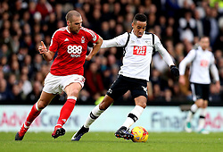 Thomas Ince of Derby County goes past Pajtim Kasami of Nottingham Forest - Mandatory by-line: Robbie Stephenson/JMP - 11/12/2016 - FOOTBALL - iPro Stadium - Derby, England - Derby County v Nottingham Forest - Sky Bet Championship