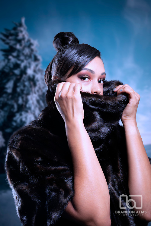 Fashion photography with furs. Photo by Brandon Alms Photography