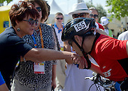 (L) Jolanta Kwasniewska - Former First Lady of Poland & (R) athlete Jacek Cieslik of Poland during 2011 Special Olympics World Summer Games Athens on June 27, 2011..The idea of Special Olympics is that, with appropriate motivation and guidance, each person with intellectual disabilities can train, enjoy and benefit from participation in individual and team competitions...Greece, Athens, June 27, 2011...Picture also available in RAW (NEF) or TIFF format on special request...For editorial use only. Any commercial or promotional use requires permission...Mandatory credit: Photo by © Adam Nurkiewicz / Mediasport