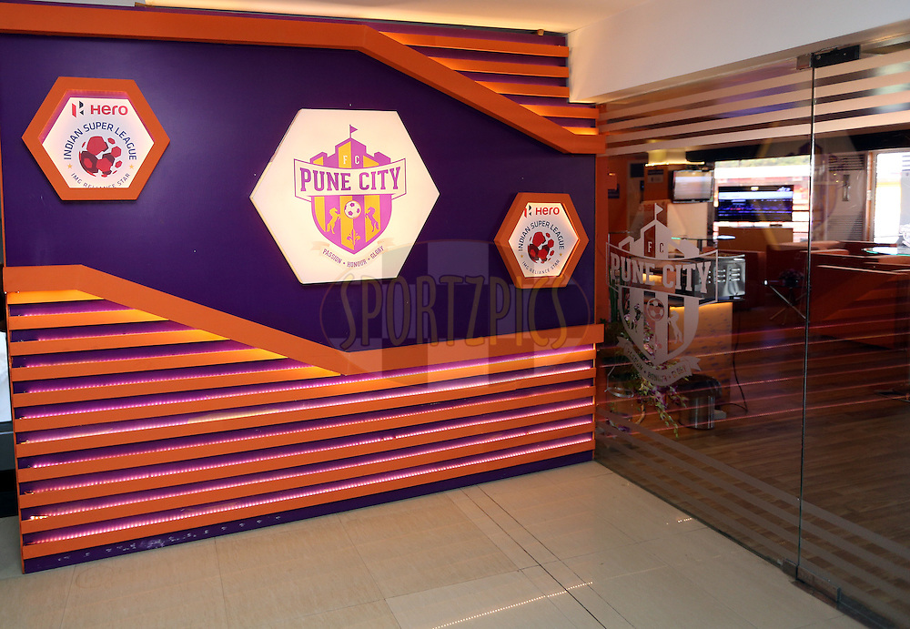 Hospitality area during match 33 of the Indian Super League (ISL) season 2  between FC Pune City and FC Goa held at the Shree Shiv Chhatrapati Sports Complex Stadium, Pune, India on the 8th November 2015.<br /> <br /> Photo by Sandeep Shetty / ISL/ SPORTZPICS