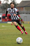 Grimsby Town forward Harry Cardwell (17)  during the EFL Sky Bet League 2 match between Grimsby Town FC and Port Vale at Blundell Park, Grimsby, United Kingdom on 10 March 2018. Picture by Mick Atkins.