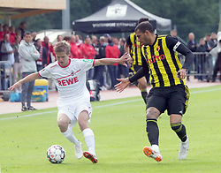 July 17, 2018 - Kitzbuehel, Austria - from left Vincent KOZIELLO (Koeln), Etienne CAPOUE (Watford), .friendly 1. FC Koeln vs FC Watford, .Kitzbuehel/Austria, Stadion Langau, July 17, 2018, .as preparation for the next season the German team of 1. FC Koeln and the English Premier Club of Watford meet in the Austrian Kithbuehel (Credit Image: © Wolfgang Fehrmann via ZUMA Wire)