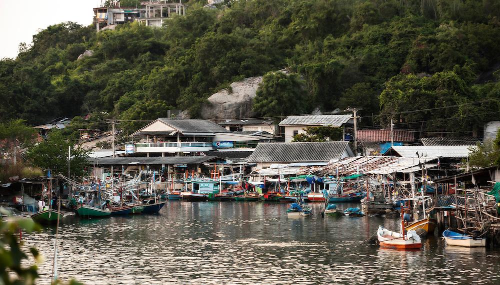 Hua Hin Fishing Village at the foot of Kao Takiab, Hua Hin, Thailand