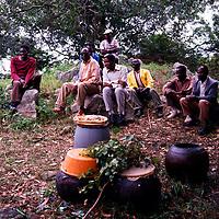 harvest ceremony, near the royal palace of Modjadji. 1988  Greg Marinovich