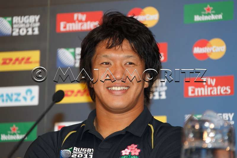 Japan's captain Takashi KIKUTANI is all smiles after this defeat that felt like a victory