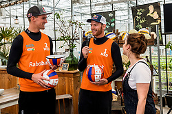 28-03-2018 NED: Kickstart Food van Rabobank, Utrecht<br /> A clever mix of the tastiest seasonal vegetables for the sports public, coming from Dutch local companies. That is the core of the new food program that enables Rabobank and the Nevobo at the Moestuin in Utrecht /