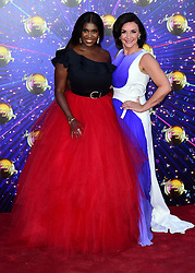 Motsi Mabuse (left) and Shirley Ballas arriving at the red carpet launch of Strictly Come Dancing 2019, held at BBC TV Centre in London, UK.