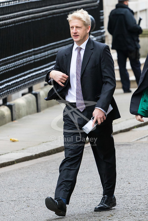 London, November 29 2017. Science Minister Joe Johnson is seen walking up Downing Street to a meeting at No. 10. © Paul Davey