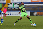 Forest Green Rovers Ethan Pinnock(16) passes the ball during the Vanarama National League match between Macclesfield Town and Forest Green Rovers at Moss Rose, Macclesfield, United Kingdom on 12 November 2016. Photo by Shane Healey.