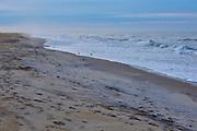 Ocean waves along Atlantic Beach during a spring morning