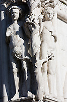 adam and eve statue on the dodge palace pazzia san marco saint mark place in the beautiful city of venice in italy