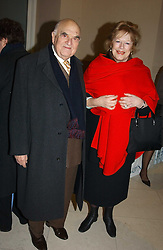 LADY ANTONIA FRASER and LORD WEIDENFELD at a the Orion Publishing Group Author Party and a private view of the 'Turner Whistler Monet' exhibition at Tate Britain, Atterbury Street, London SW1 on 23rd February 2005.<br />