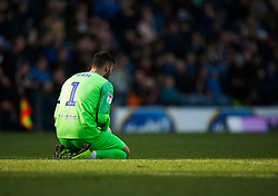 David Raya of Blackburn Rovers looks dejected - Mandatory by-line: Jack Phillips/JMP - 17/02/2019 - FOOTBALL - Ewood Park - Blackburn, England - Blackburn Rovers v Middlesbrough - English Football League Championship