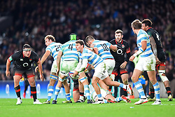 November 11, 2017 - London, United Kingdom - England's Jamie George eyes up his opposite number during Old Mutual Wealth Series between England against Argentina at Twickenham stadium , London on 11 Nov 2017  (Credit Image: © Kieran Galvin/NurPhoto via ZUMA Press)