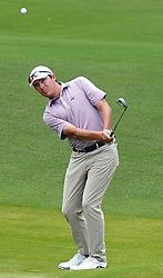 May 3, 2019 - Charlotte, NC, USA - Joel Dahmen chips onto the 16th green during second round action of the Wells Fargo Championship at Quail Hollow Club Friday, May 3, 2019 in Charlotte, N.C. Dahmen finished the round at -10. (Credit Image: © TNS via ZUMA Wire)