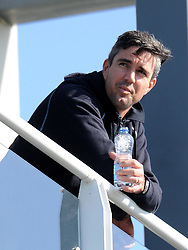Surrey's Kevin Pietersen looks on prior to the start of Day 2. - Photo mandatory by-line: Harry Trump/JMP - Mobile: 07966 386802 - 20/04/15 - SPORT - CRICKET - LVCC County Championship - Division 2 - Day 2 - Glamorgan v Surrey - Swalec Stadium, Cardiff, Wales.