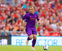 DUBLIN, REPUBLIC OF IRELAND - Saturday, August 4, 2018: Liverpool's new signing Xherdan Shaqiri during the preseason friendly match between SSC Napoli and Liverpool FC at Landsdowne Road. (Pic by David Rawcliffe/Propaganda)