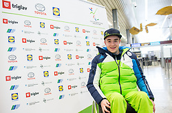 Jernej Slivnik prior to the departure of Slovenian Paralympic team for Pyeongchang 2018 Winter Paralympics, on March 3, 2018 in Letalisce Jozeta Pucnika, Brnik, Slovenia. Photo by Vid Ponikvar / Sportida