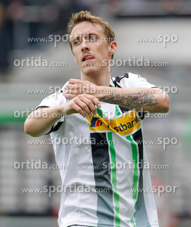 11.04.2015, Borussia Park, Moenchengladbach, GER, 1. FBL, Borussia Moenchengladbach vs Borussia Dortmund, 28. Runde, im Bild Max Kruse (Borussia Moenchengladbach #10) // 15054000 during the German Bundesliga 28th round match between Borussia Moenchengladbach and Borussia Dortmund at the Borussia Park in Moenchengladbach, Germany on 2015/04/11. EXPA Pictures &copy; 2015, PhotoCredit: EXPA/ Eibner-Pressefoto/ Sch&uuml;ler<br /> <br /> *****ATTENTION - OUT of GER*****