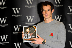 Andy Murray meets fans and signs copies of his book 'Seventy-Seven: My Road To Wimbledon Glory' at Waterstones, Piccadilly, London, United Kingdom. Wednesday, 6th November 2013. Picture by Chris Joseph / i-Images