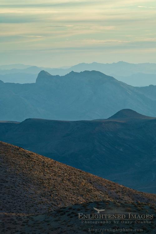 Morning light pn hills near Dantes View, Death Valley National Park, California