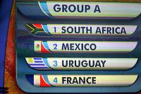 Fotball , Cape Town -  9. desember 2009 , trekning av VM-gruppene i Sør-Afrika<br />  Bild zeigt die Auslosung der Gruppe A mit Sør-afrika, Mexico , Uruguay und Frankrike .<br /> <br /> Norway only