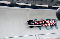 Teams compete in the four-man bobsleigh finals during the 2010 Olympic Winter Games in Whistler, BC Canada.