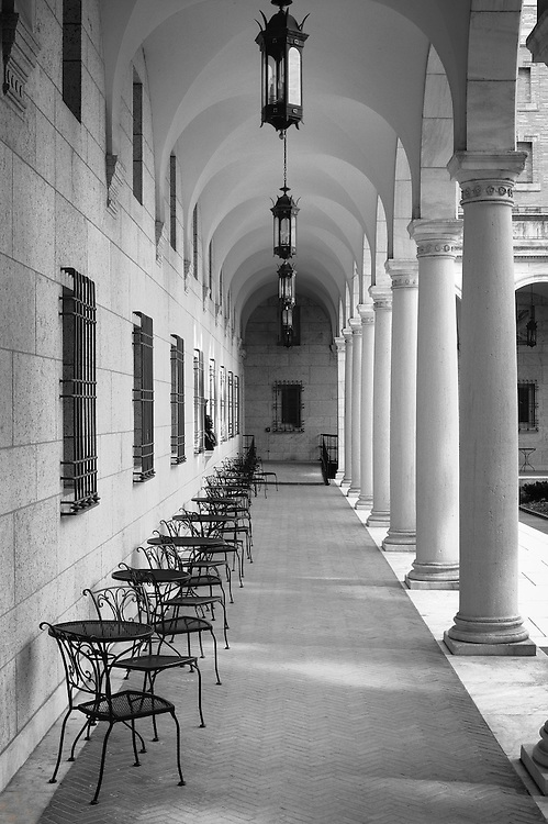 Boston Public Library courtyard.