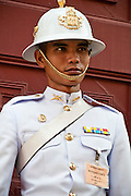 Royal Guard at the The Grand Palace in  Bangkok, Thailand.