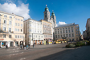 View of Hauptplatz, Linz, Austria