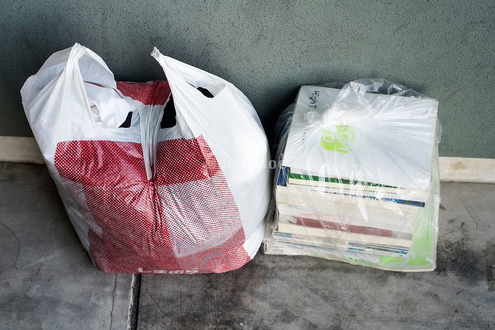 for recycle paper stack ready for pick up