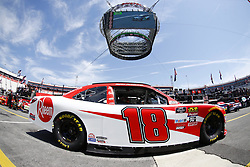 April 13, 2018 - Bristol, Tennessee, United States of America - April 13, 2018 - Bristol, Tennessee, USA: Ryan Preece (18) drives his car under Colossus TV during opening practice for the Fitzgerald Glider Kits 300 at Bristol Motor Speedway in Bristol, Tennessee. (Credit Image: © Chris Owens Asp Inc/ASP via ZUMA Wire)