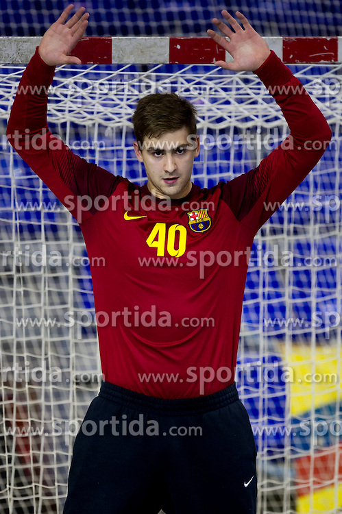 09.11.2013, Palau Blaugrana, Barcelona, ESP, Liga ASOBAL, FC Barcelona vs Frigorificos Morrazo, 9. Runde, im Bild FC Barcelona's Ignasi Biosca // FC Barcelona's Ignasi Biosca during the spanish Handball league ASOBAL 9th round match between FC Barcelona and Frigor&iacute;ficos at the Palau Blaugrana in Barcelona, Spain on 2013/11/10. EXPA Pictures &copy; 2013, PhotoCredit: EXPA/ Alterphotos/ Alex Caparros<br /> <br /> *****ATTENTION - OUT of ESP, SUI*****