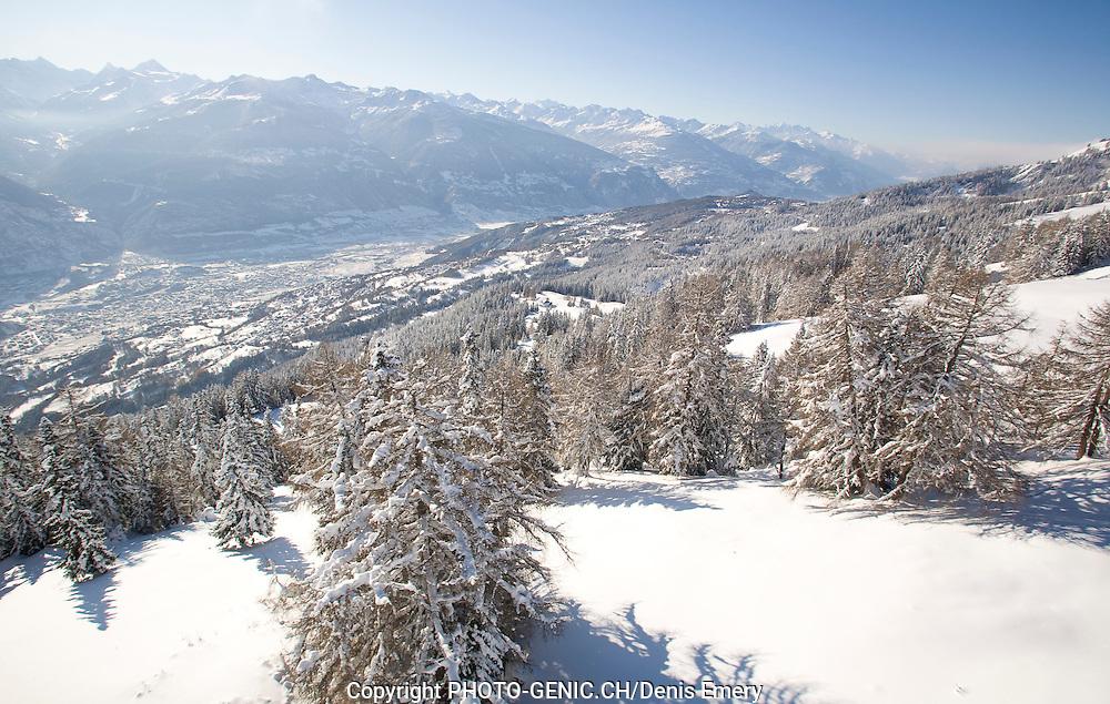 Crans-Montana Tourisme Hiver neige.(PHOTO-GENIC.CH/Denis Emery)