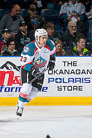 KELOWNA, CANADA - FEBRUARY 22: Reid Gardiner #23 of the Kelowna Rockets skates against the Edmonton Oil Kings on February 22, 2017 at Prospera Place in Kelowna, British Columbia, Canada.  (Photo by Marissa Baecker/Shoot the Breeze)  *** Local Caption ***