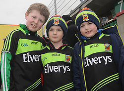 Colm, Darragh and Mark Egan at McHale park for the Mayo v Kerry national football league encounter. Pic Conor McKeown