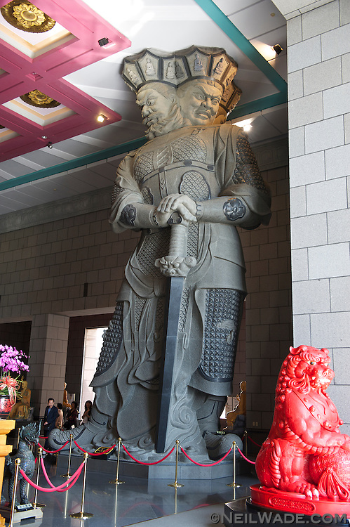 The Hall of the Four Heavenly Kings at Chung Tai Chan Temple.