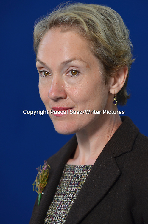 Justine Picardie at the Edinburgh International Book Festival. 12th August 2012.<br /> <br /> Photograph by Pascal Saez/Writer Pictures <br /> WORLD RIGHTS