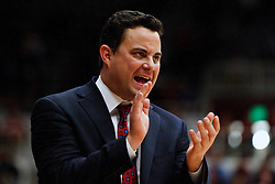 February 3, 2011; Stanford, CA, USA;  Arizona Wildcats head coach Sean Miller on the sidelines against the Stanford Cardinal during the first half at Maples Pavilion.